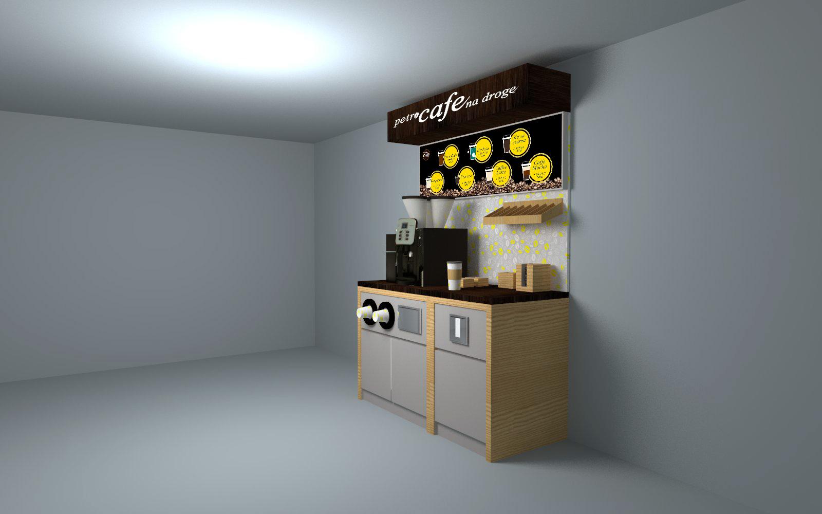 Projekt standu kawowego 160