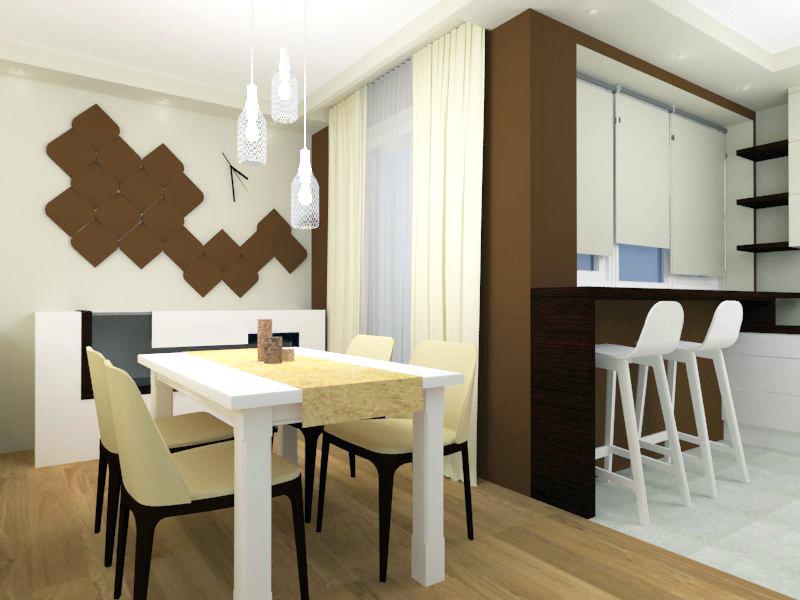 Panele dekoracyjne 3D w jadalni