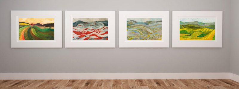 Obraz olejny na zmówienie, cztery pory roku, Małgorzata Walisiak