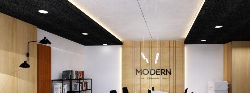 Projekt biura Modern Classic Warszawa