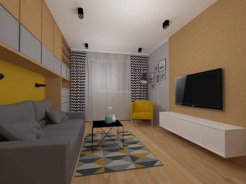 Salon z kuchnią MW