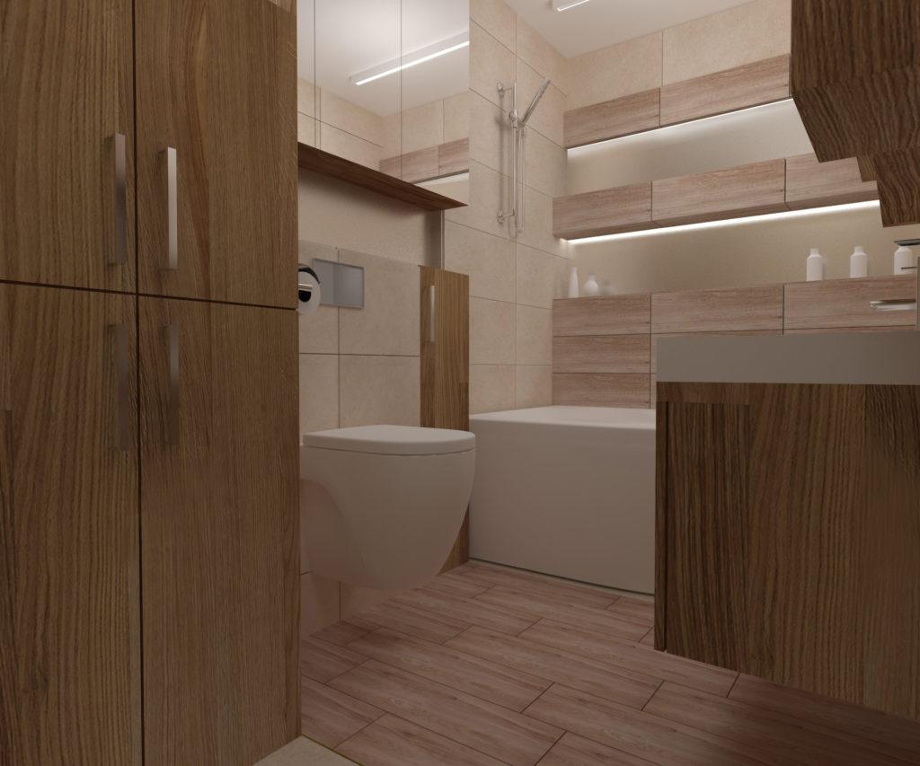 Projekt łazienki – widok
