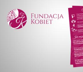 Projekt ulotki A5 dla Fundacji Kobiet