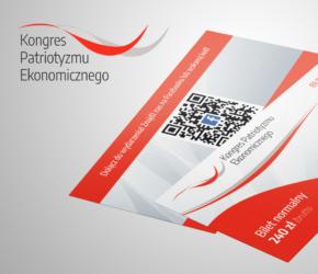 Projekt biletów na Kongres Patriotyzmu Ekonomicznego