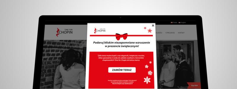Projekt pop-upa świątecznego