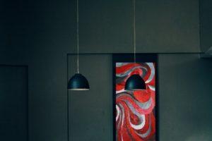 Czerwony obraz do lokalu gastronomicznego, hotelu lub sali konferencyjnej
