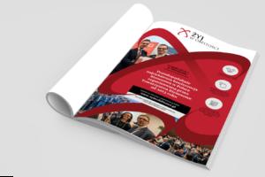 Projekt reklamy do gazety konferencja Żyj w Obfitości