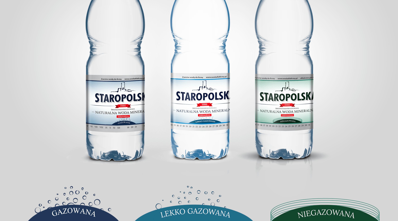 Projekt etykiet na wodę Staropolska