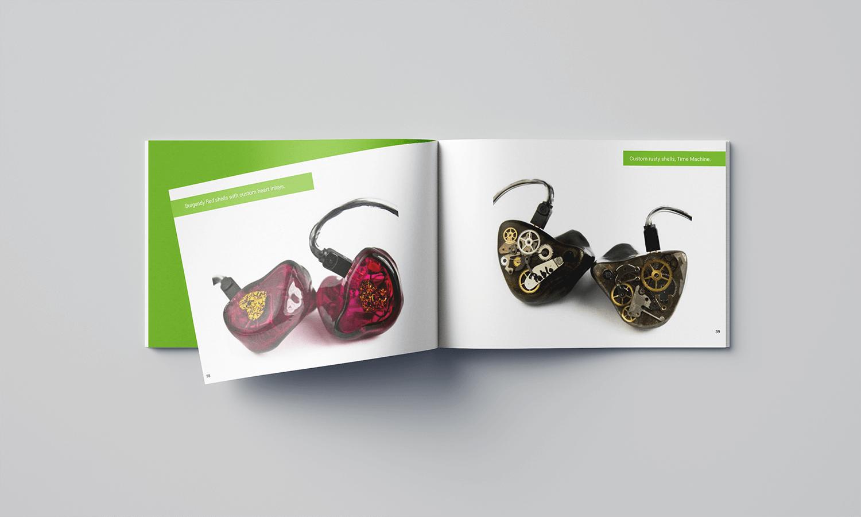 Projekt katalogu produktów Lime Ears - strona ze zdjęciami produktów