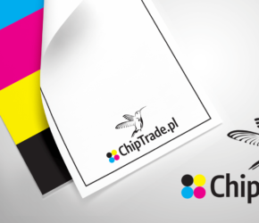 Projekt logo z motywem kolibra chiptrade.pl
