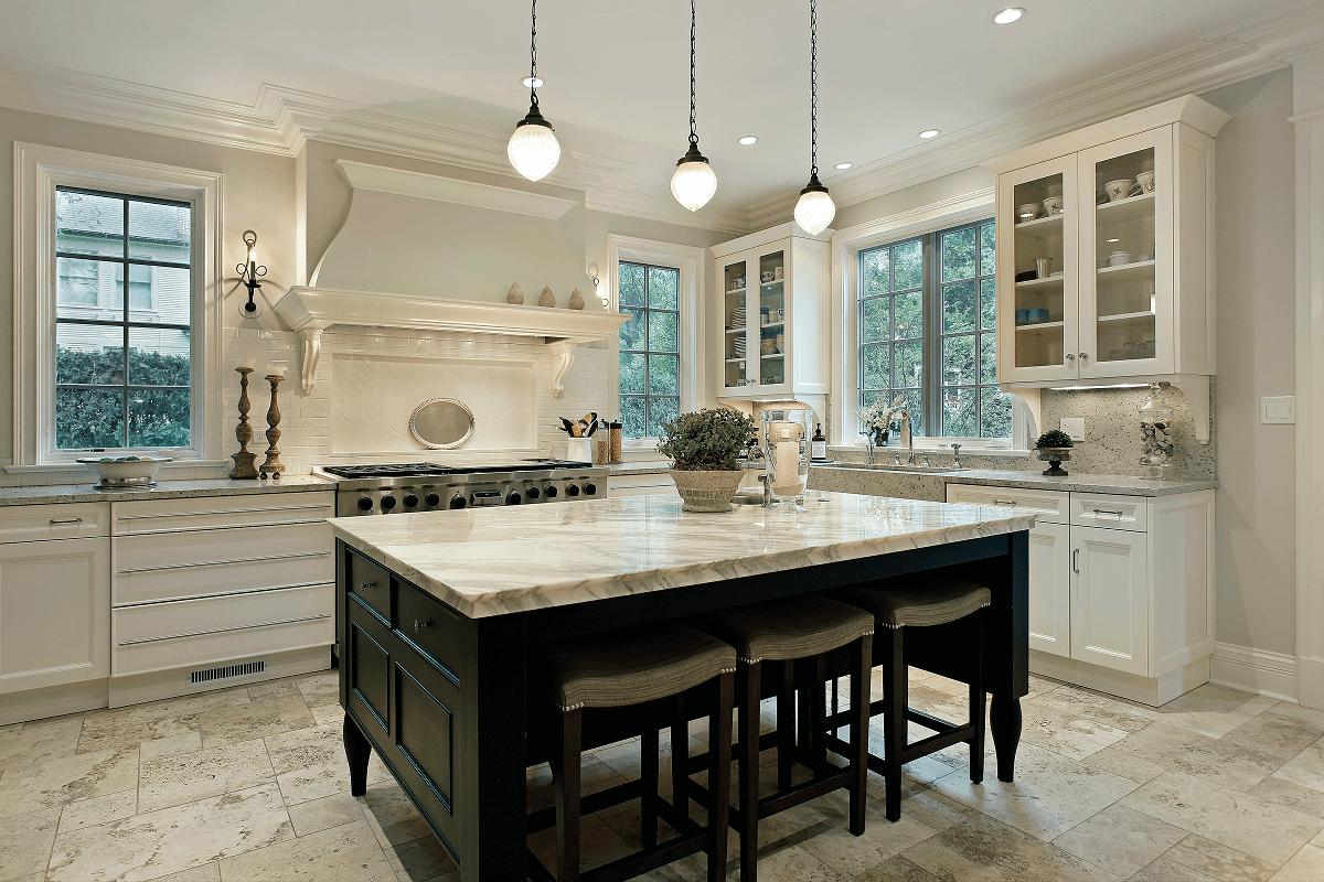 Podłoga kamienna w kuchni