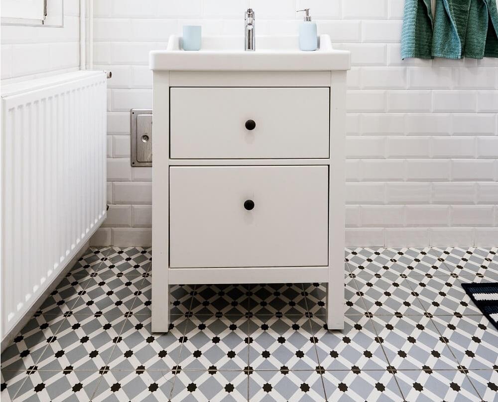 płytki łazienkowe wzory na podłodze