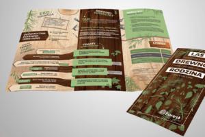 projekt dużej ulotki informacyjnej A3 do DL Moje Projektowanie byforest