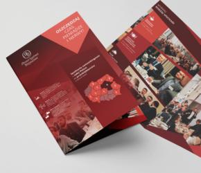 prezentacja towarzystw biznesowych - projekt ulotki A4 dla TB