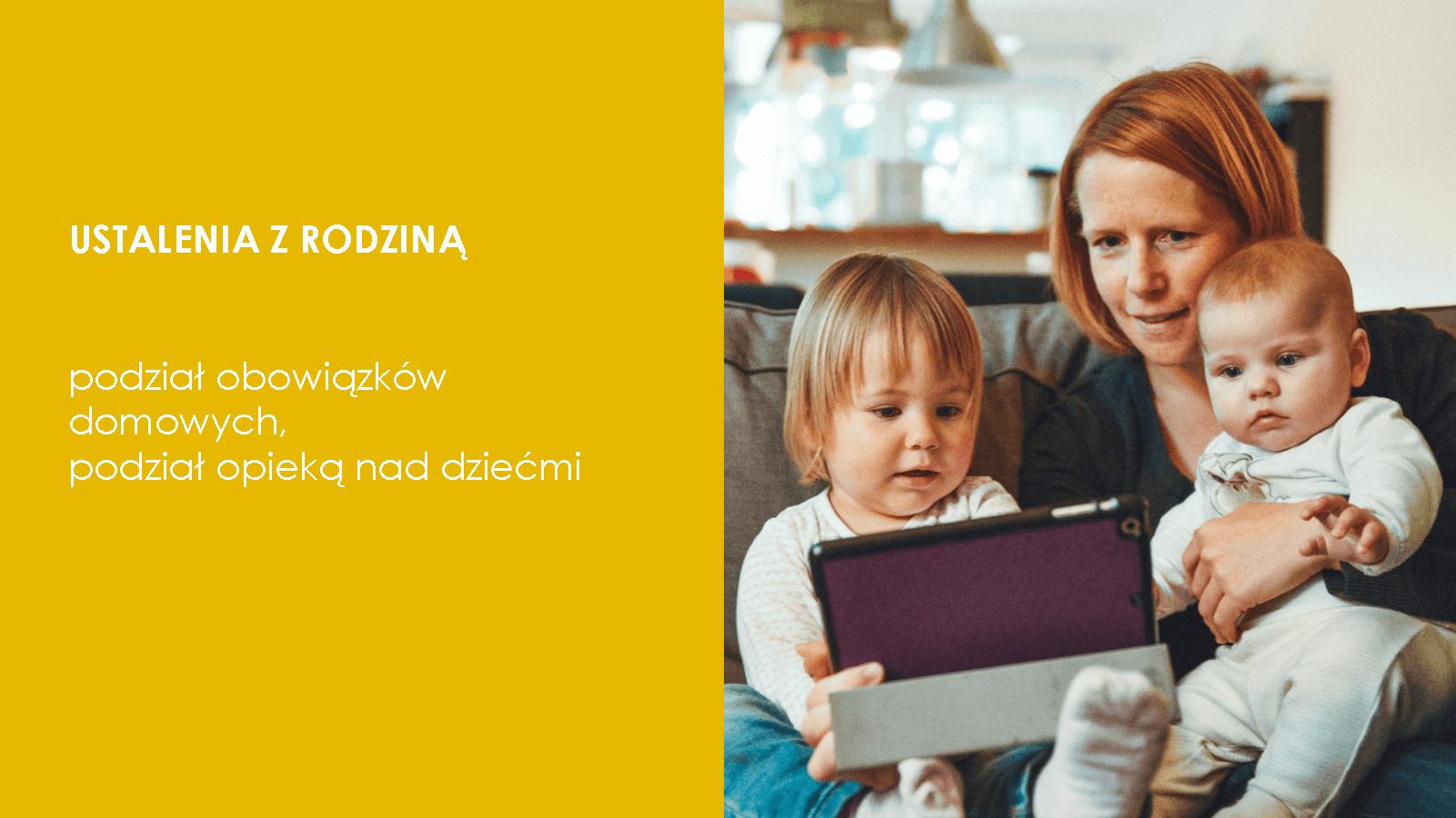 Praca w domu, dobre praktyki: ustalenia z rodziną