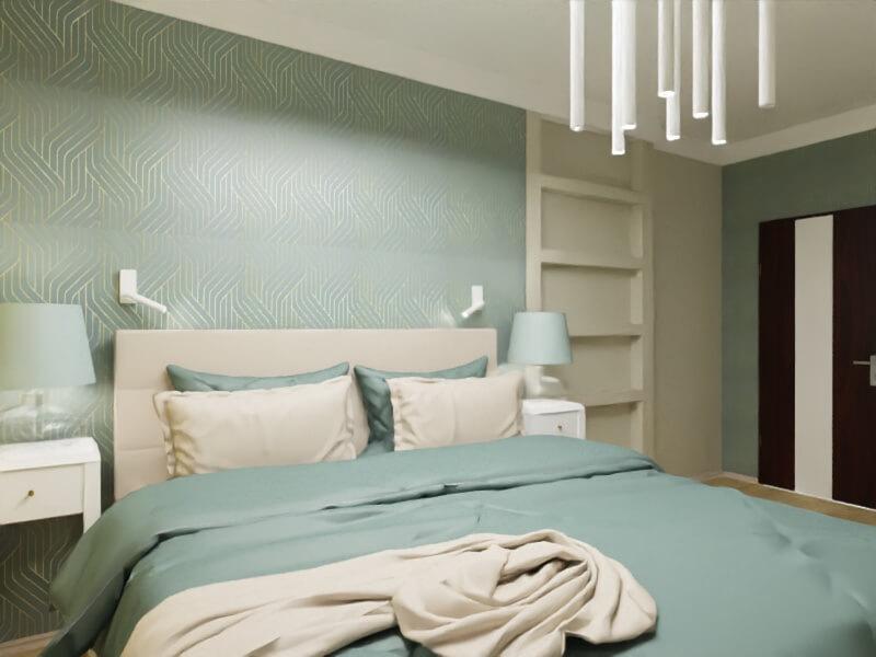 projekt kobiecej sypialni warszawa