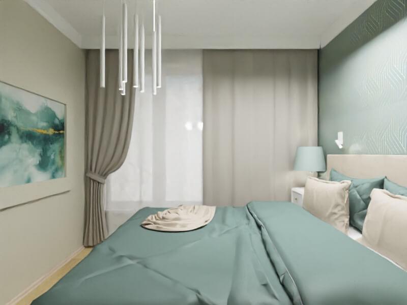 projekt sypialni oświetlenie w sypialni