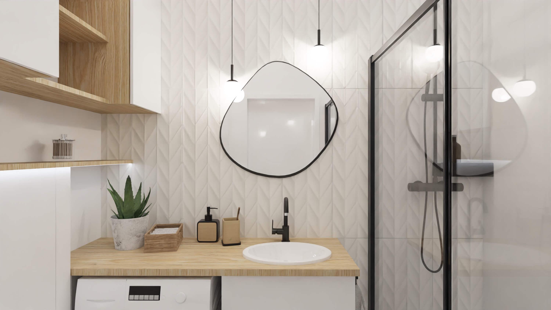 projekt łazienki - mieszkanie na wynajem