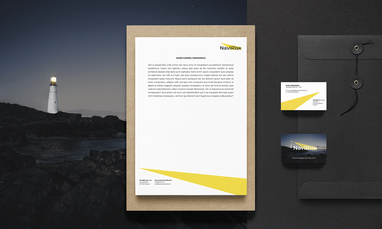 projekt identyfikacji wizualnej - papier firmowy