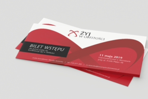 Projekt biletu DL na konferencję Żyj w Obfitości
