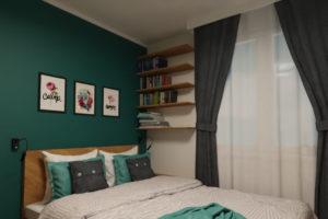 mała sypialnia projekt mieszkania warszawa
