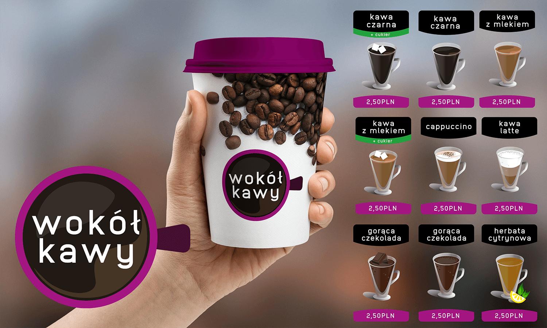 projekt logo automatu do kawy